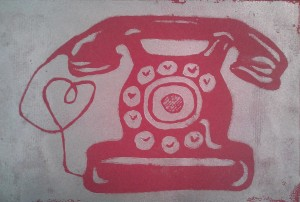 heart phone print by Risa